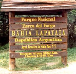 Argentinien Ushuaia Ende der Panamericana