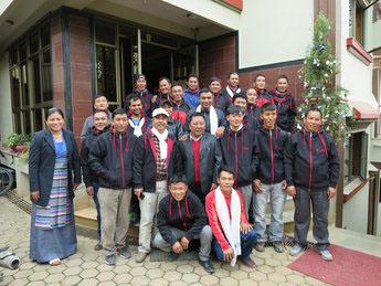 Diamir Reiseleiter Team in Nepal