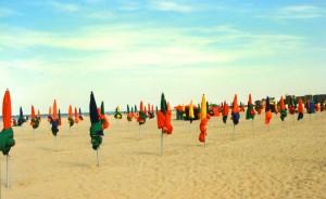 Frankreich Strand von Deauville