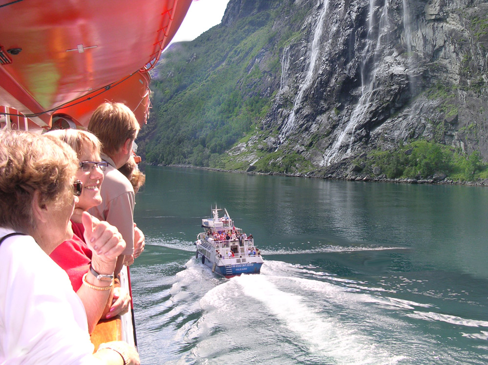 Geirangerfjord-Ausbooten