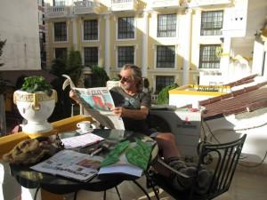 Rolf Schmelzer im Hotel Kathmandu Guest House