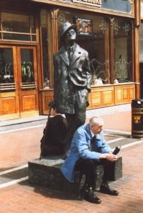 Statue von James Joyce