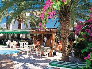 Terrasse des Hotel Nara***+, Playa del Inglés, Gran Canaria