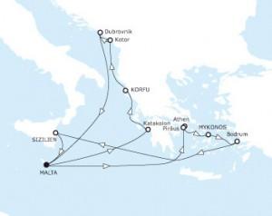 mein schiff 3 Mittelmeerkreuzfahrt Adria Kroatien Oestliches Mittelmeer