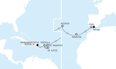 Route mein schiff 3 Mittelmeer-Karibik