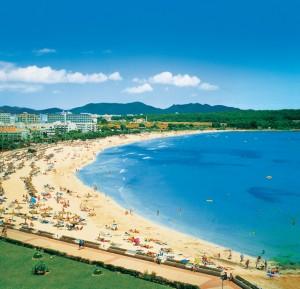 die kleine Bucht Sa Coma vor dem Orient beach