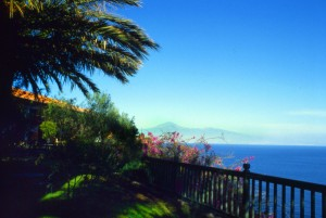 Der Teide auf teneriffa vom Hotel Parador auf La Gomera aus