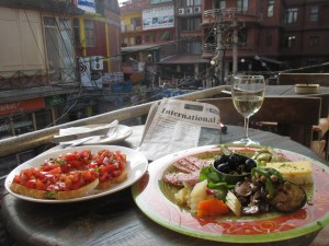 Speisen im La Dolce Vita in Kathmandu